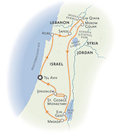 Israel walking map